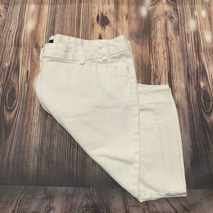 Limited white stretch shorts